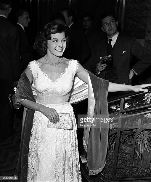 London, England Actress Joan Rice is pictured at the British Film Academy Awards at the Odeon Cinema, Leicester Square