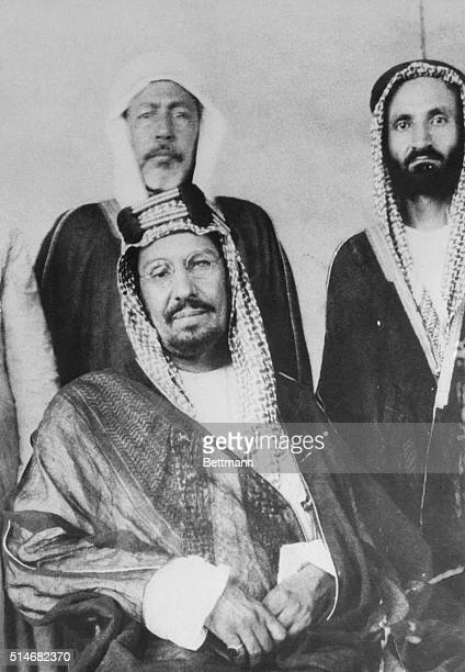3/22/1928 London England Arabia's 'Bad Boy' Incites 'Holy War' Photo shows the bad boy of Arabia the Holy 'Terror' of Islam Abdul Aziz Ibn Ul Saud...