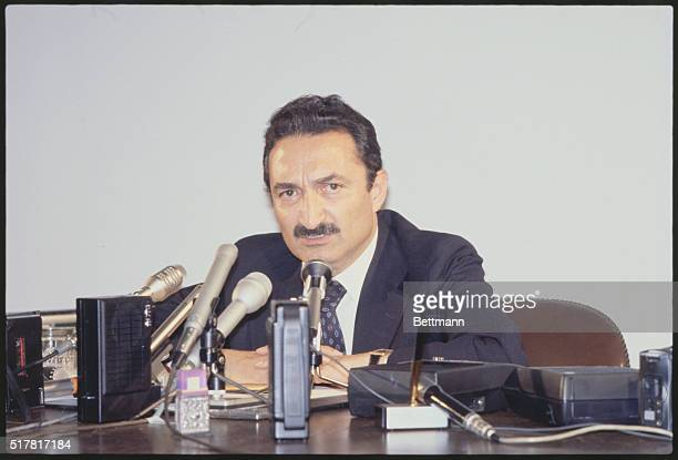 Bulent Ecevit Turkish prime minister during press conference May 15 1978