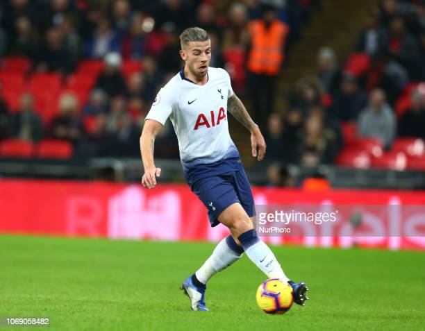 London England December 05 2018 Tottenham Hotspur's Toby Alderweireld during Premier League between Tottenham Hotspur and Southampton at Wembley...