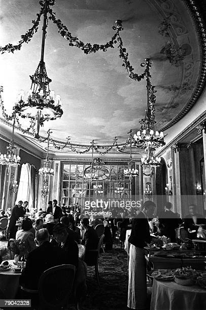 London England Diners are pictured at the Louis XVI Restaurant at the Ritz Hotel