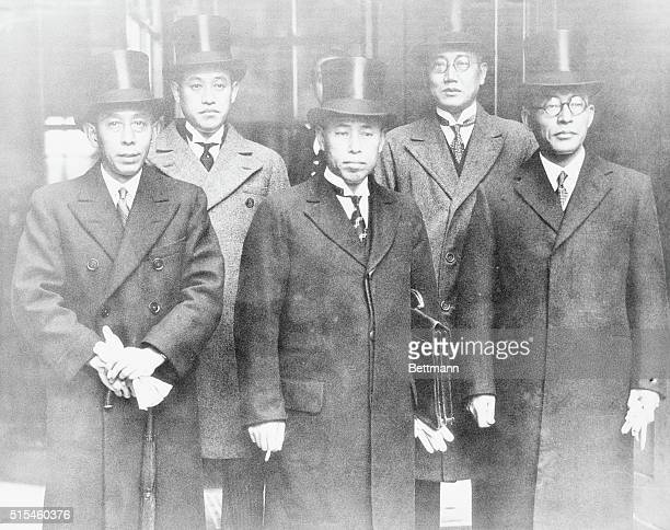 Japan's Delegates To PreNaval Conference Members of the Japanese delegation to the congregations between Japan United States and Great Britain in...
