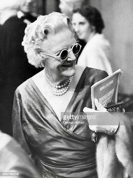 London England Lady Churchill at a world recordsetting art auction in London at which 781000 pounds sterling was paid for seven pictures including...