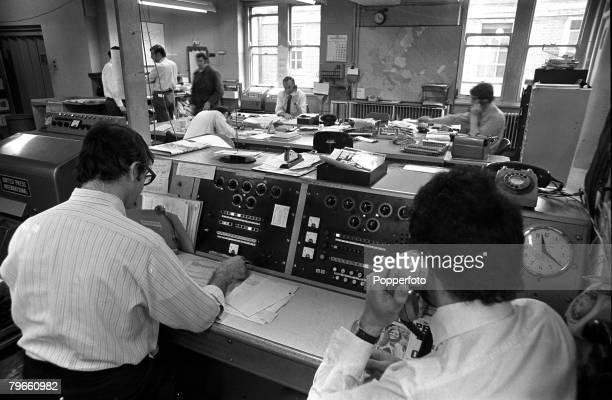 London England May 1970 The newsroom of the Fleet Street London office of United Press International news and picture agency
