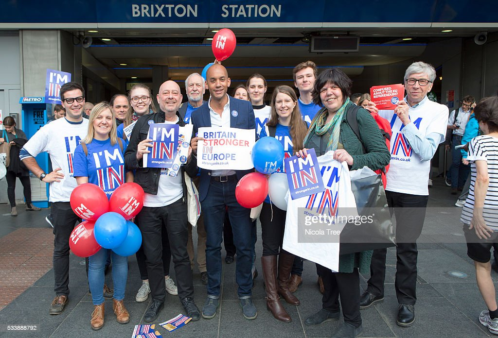 Labours Chuka Umunna Campaigns For Britain To Remain In The EU