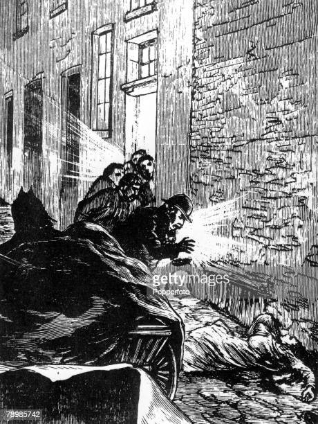 London, England, Murder, Elizabeth Stride, aged 45, a prostitute, died in Berners Street, Her windpipe was severed, but Jack the Ripper had...
