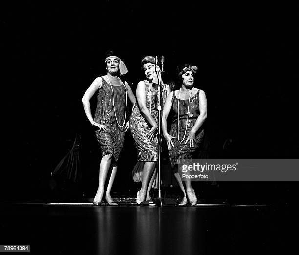 London England Musical trio The Andrews Sisters are pictured performing at the Talk of the Town