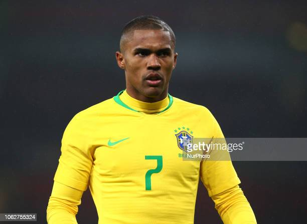 London England November 16 2018 Douglas Costa of Brazil during Chevrolet Brazil Global Tour International Friendly between Brazil and Uruguay at...