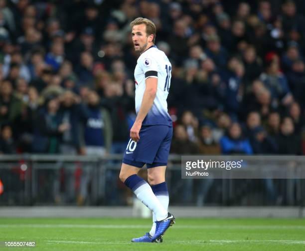 London England October 29 2018 Tottenham Hotspur's Harry Kane during Premier League between Tottenham Hotspur and Manchester City at Wembley stadium...