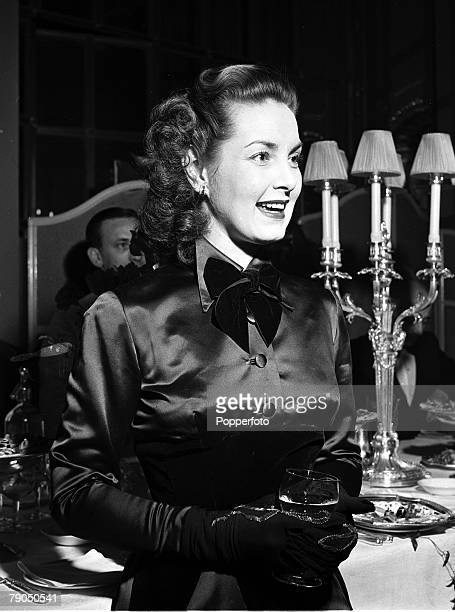 London England Portrait of British actor Patricia Roc taken at the 21st Birthday party of 'Spotlight' at The Ritz Hotel 15th March 1949