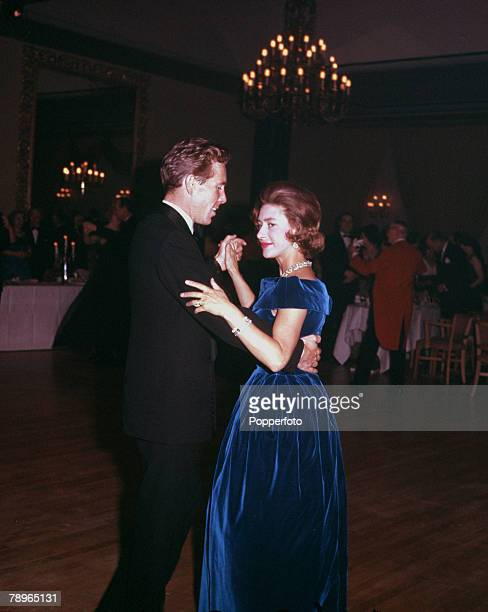 London England Princess Margaret and Lord Snowdon are pictured dancing together at the Canadian Universities Ball at Quaglino's