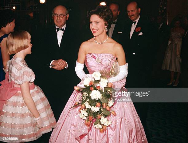 London England Princess Margaret is pictured at the Premiere of the film The Key at the Odeon Theatre Leicester Square