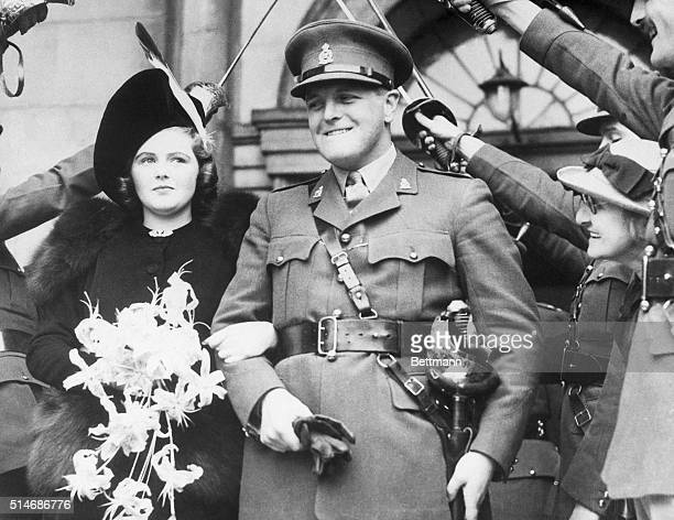 London England Randolph Churchill son of Winston Churchill First Lord of the British Admiralty and his bride the Honorable Pamela Digby daughter of...