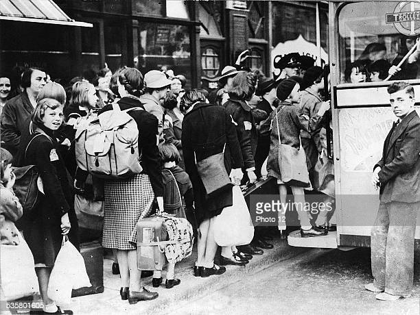London England  September 5 1939  The children are evacuated