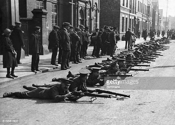 Training of English troops in London streets due to shortage of barracks Photograph