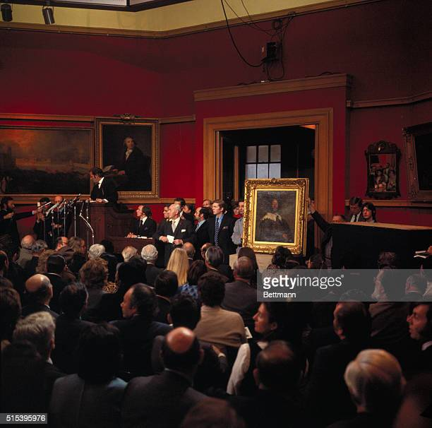 Velazquez Painting Fetches World Record Price A picture taken during an auction at Christie's today when the Velazquez portrait on the right was sold...