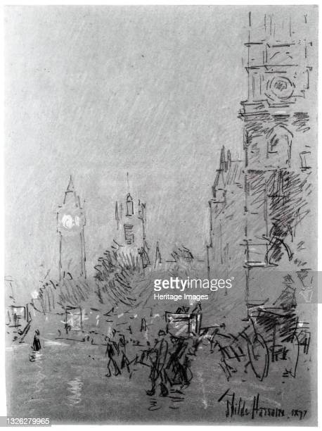 London, Evening, 1897. Artist Frederick Childe Hassam.