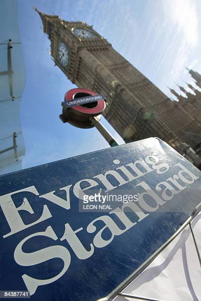 A London Evening Standard newspaper billboard is pictured in central London on January 21 2009 Russian tycoon and former KGB agent Alexander Lebedev...