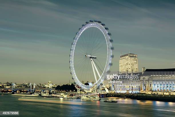 London Eye and Jubilee Gardens at dusk
