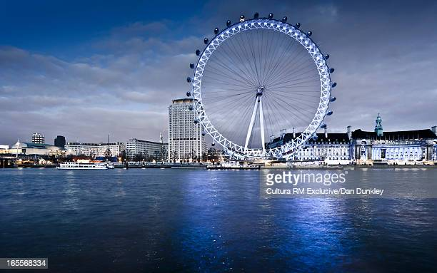 London Eye and River Thames in London