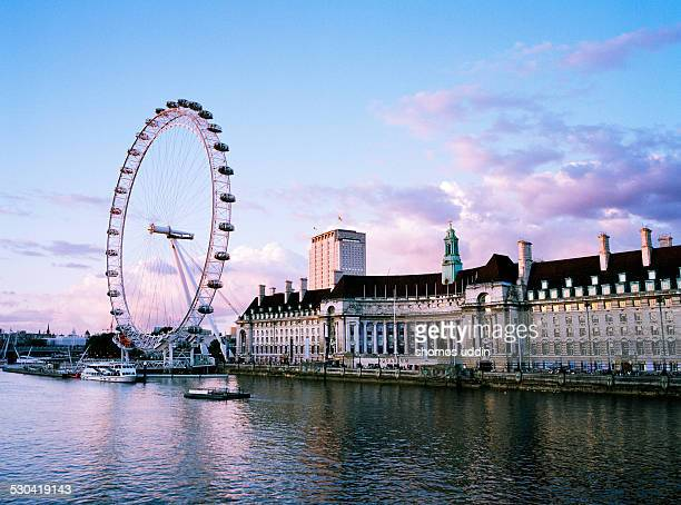 London Eye and the view across River Thames