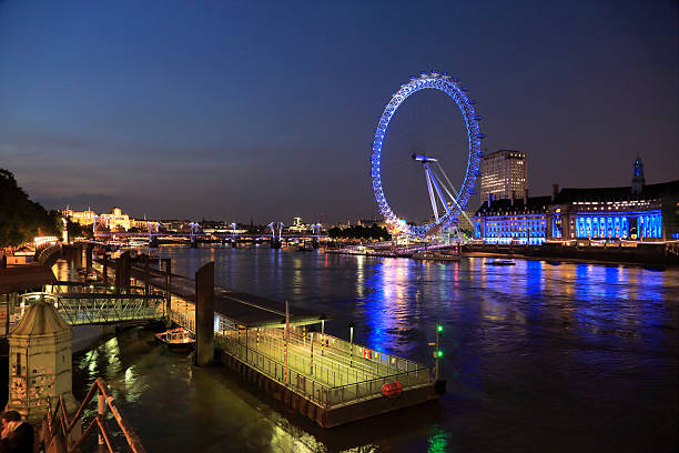 London Eye And Westminster Pier Wall Art