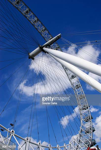 London Eye in a different angle London Eye is an iconic structure of London and a mustvisit destination for the tourists