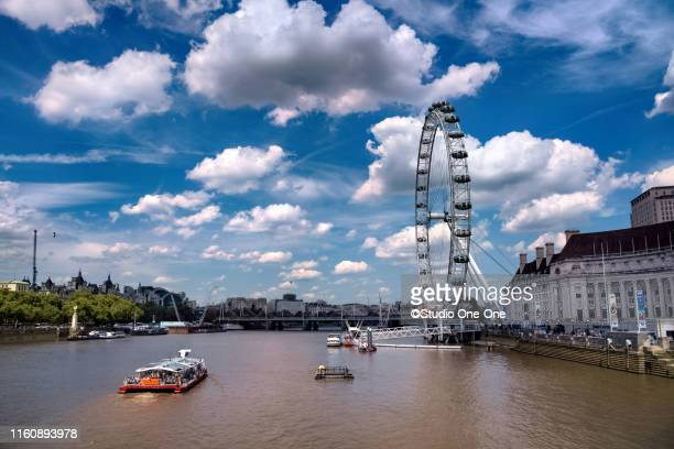london eye - greater london stock pictures, royalty-free photos & images