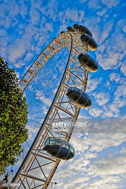 London Eye with soft clouds
