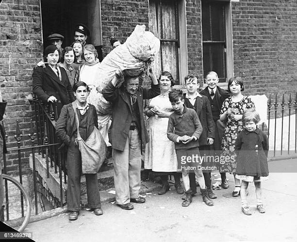 A London family packs up following their eviction | Location Waxwell Road Lambeth London England UK