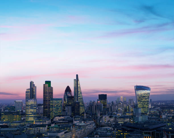 London Financial District Night - Fine Art prints