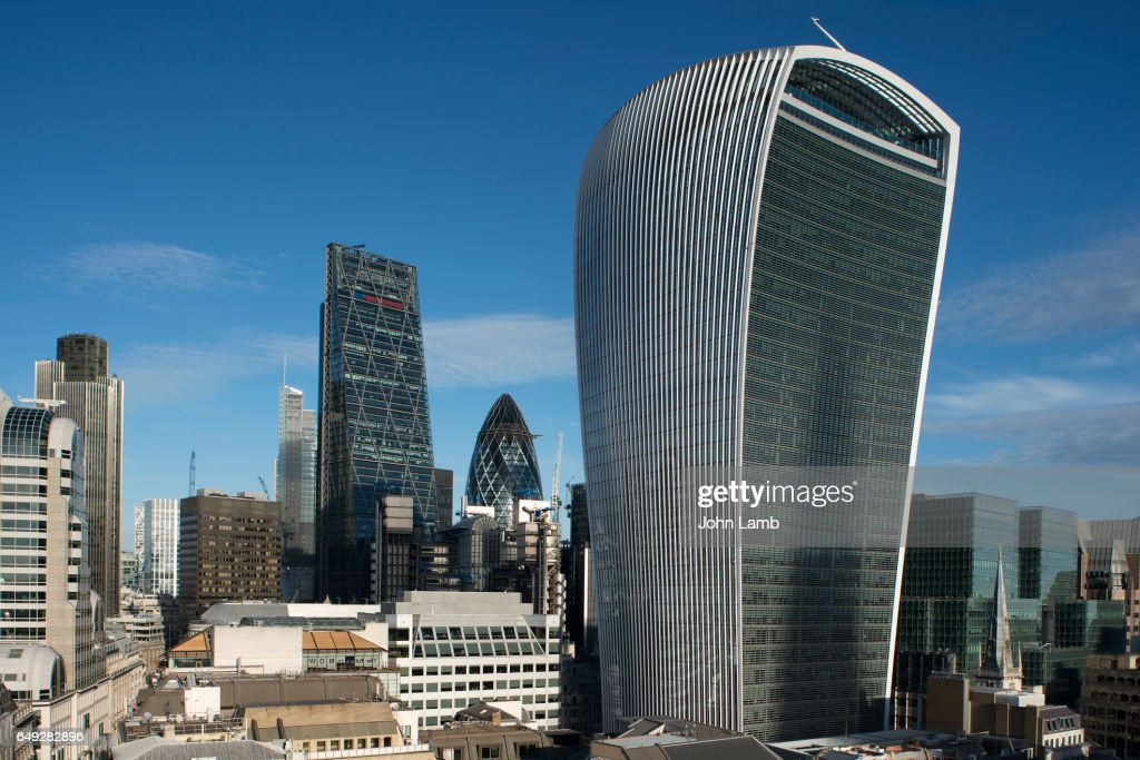 London financial district skyline with Walkie Talkie building. : Photo
