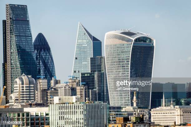 London financial district with Leadenhall Building The Cheesegrater Gherkin and Walkie Talkie