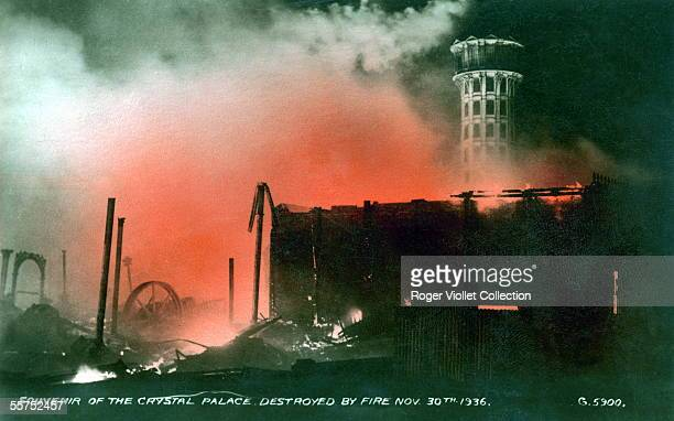 London Fire of the Crystal Palace the November 30 1936