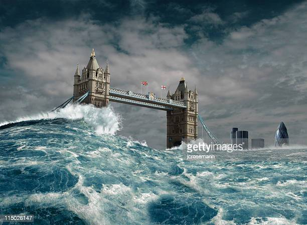 london flood disaster - flooding stock photos and pictures