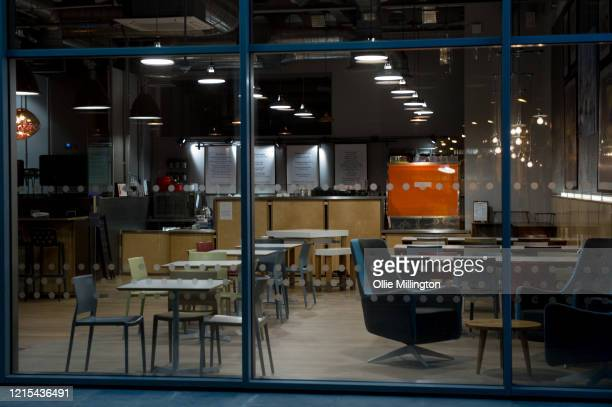 London food cafe seen shut until further notice due to the covid19 Lockdown seen on March 28 2020 in London England British Prime Minister Boris...