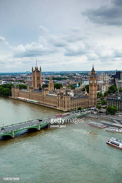 london from above - westminster bridge stock pictures, royalty-free photos & images