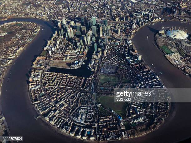 london from above - the o2 england stock pictures, royalty-free photos & images