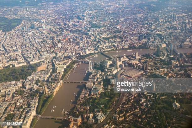london from above - waterloo railway station london stock pictures, royalty-free photos & images