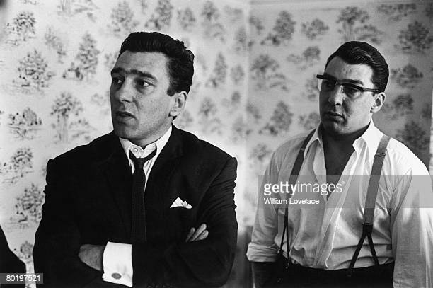 London gangsters the Kray twins Reggie and Ronnie after spending 36 hours helping the police with their inquiry into the murder of George Cornell 6th...