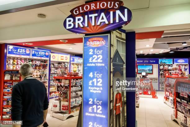 London, Glorious Britain, souvenir shop.