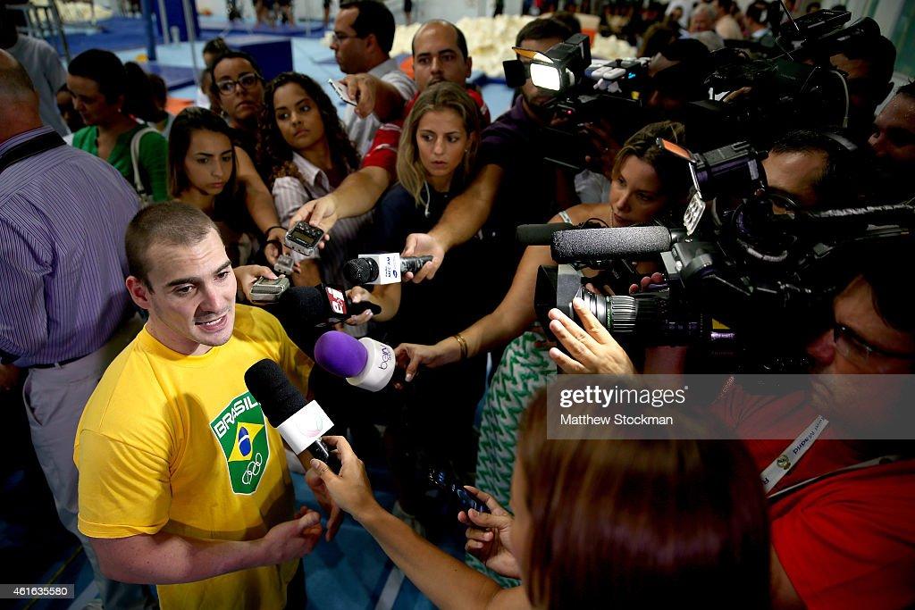 Inauguration of Team Brazil Artistic Gymnastics Training Center in Rio de Janeiro in Preparation for the Rio 2016 Olympic Games