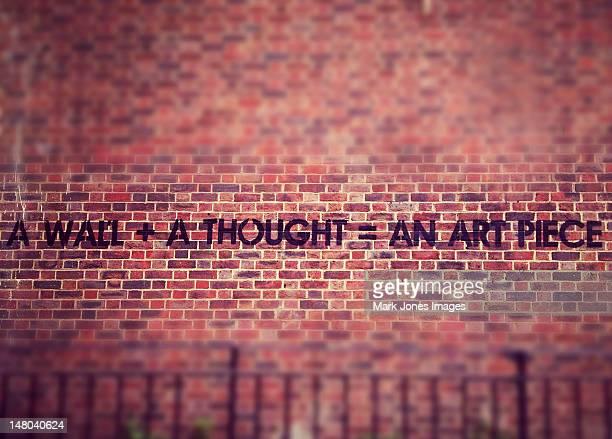 London Graffiti. A wall + A thought = An art piece