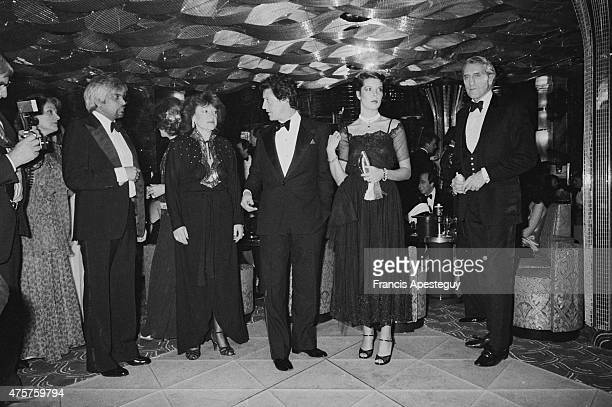 London Great Britain Princess Caroline of Monaco with Philippe Junot attends a dinner at Regines