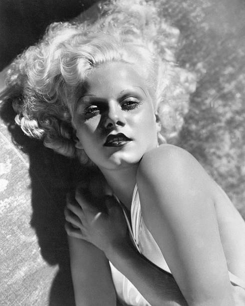 Actress Jean Harlow in Seductive Pose