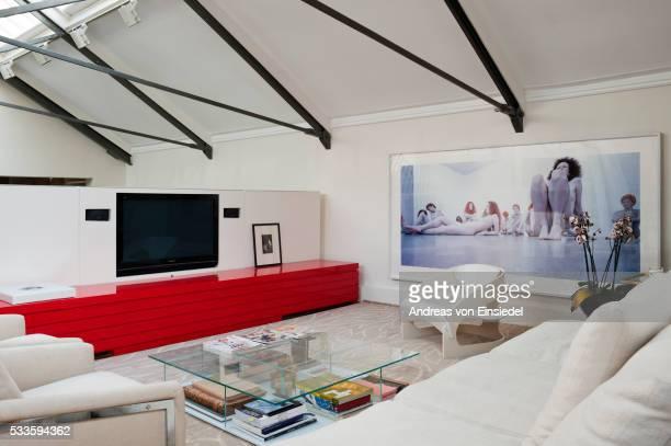 london home of architect christina seilern - christina grosse stock-fotos und bilder