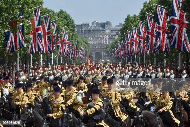 london horseguards guards band - household cavalry stock pictures, royalty-free photos & images