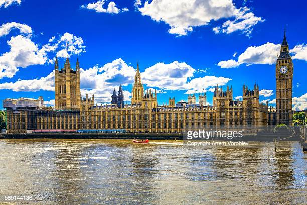 london, houses of parliament - historical geopolitical location stock photos and pictures