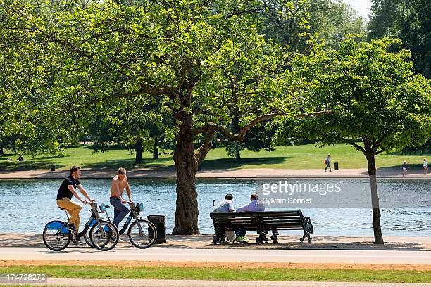 London, Hyde Park in summer