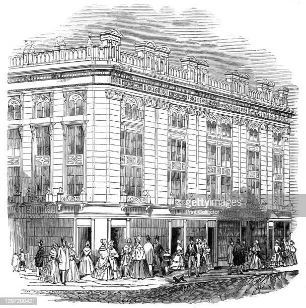 London improvements - New Coventry Street, 1845. 'New Coventry-street...consists, on one side, of a pile of highly embellished houses, from the...